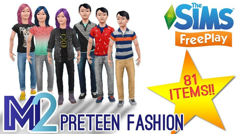Sims FreePlay Preteen Fashion 81 New Items Early Access