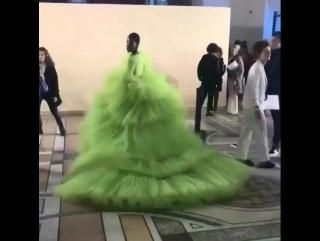 tami at giambattista valli haute couture backstage