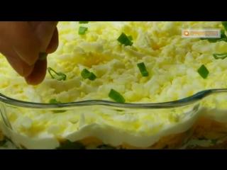"""Одна из самых популярных рыбных закусок - """"Салат с тунцом"""""""