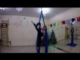 Воздушные полотна. Ева и Юля (7 января 2018)