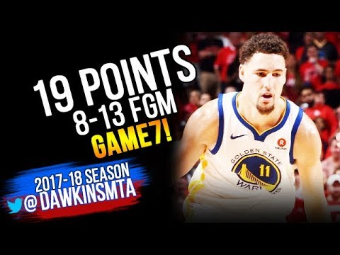 Klay Thompson Full Highlights 2018 WCF Game 7 Golden State Warriors vs Rockets - 19 Pts| FreeDawkins
