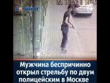 Следственный комитет РФ опубликовал видео нападения на двух полицейских в центре Москвы вечером в четверг