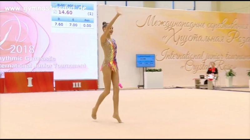 Дарья Трубникова - Булавы(финал) 18.600