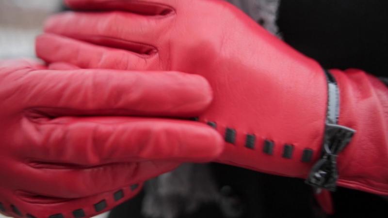 Женские перчатки лайка (ягненок) 00000880