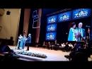Чулпан Хаматова произносит речь в поддержку Кирилла Серебренникова