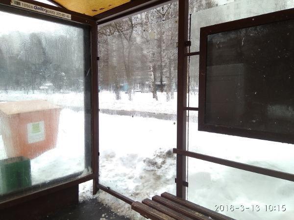 Павильон остановки «Череповецкая улица» заново остеклили