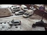 В Красноярске женщина за рулём чуть не раздавила пешехода