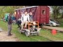 23 09 2018 Тёсовский Музей узкоколейного транспорта катание гостей на пионерке мотодрезине
