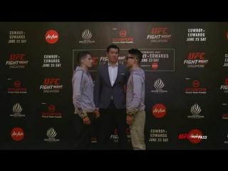 Стердауны главных участников турнира UFC Fight Night Singapore.