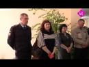 Вручение повязок новым членам добровольной народной дружины в Полтавском агротехнологическом техникуме