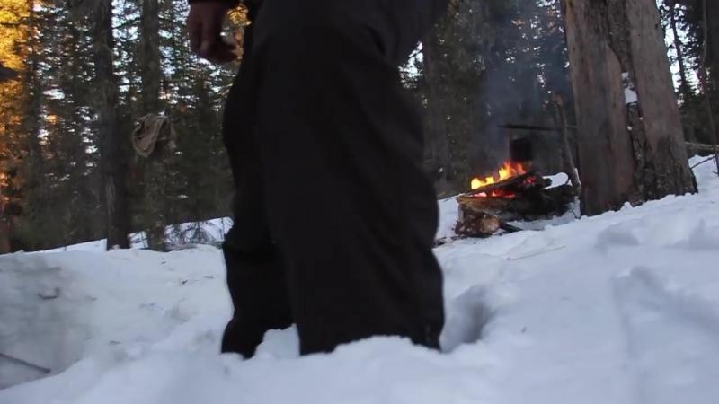 [abvgat] 18 Без цензуры! Зимний поход, зимовье, тайга, таежные лыжи, 36км. превозмоганий