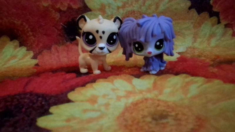 Обзор на Фигурки Лилс Петс Шоп Littlest PetShop Сиреневая собака и львёнок