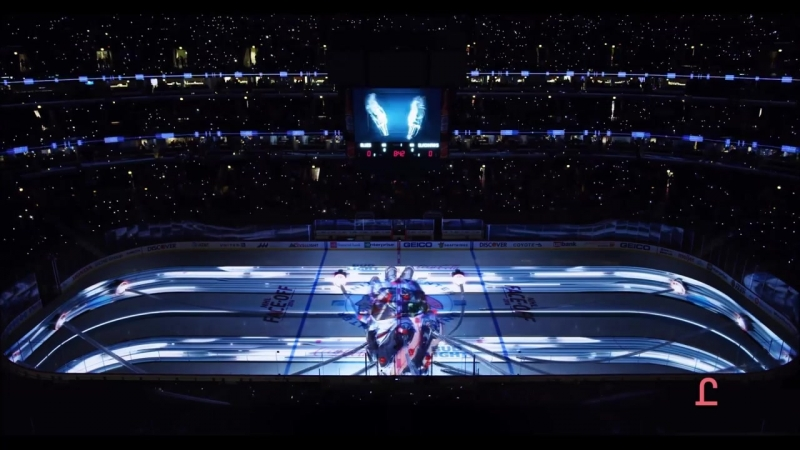 3D шоу на хоккейных площадках перед первым матчем Chicago Blackhawks