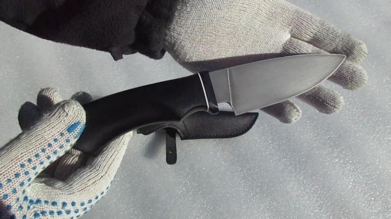 Нож шкуросъёмный НШС -5т. Рукоять граб. Ножевая мастерская Кандаловых.