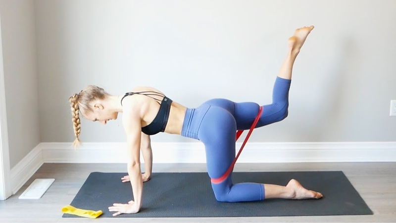 Resistance Band Booty At Home Workout | Glute Activation