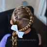 """Tiffany ❤️ Hair For Toddlers on Instagram: """"Throwback to the elastic accent Dutch braid from last summer."""