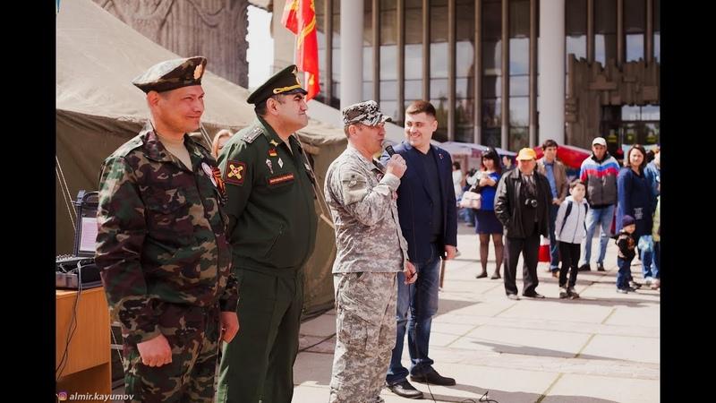 Военно-патриотическая работа на площади Драм. театра