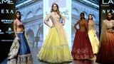 Nargis Fakhri Walks For Anushree Reddy FallWinter 201718 Lakme Fashion Week