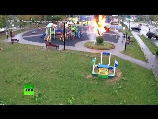 Школьник поджёг фигуру цветка на детской площадке в Подмосковье