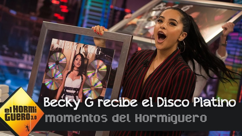 Becky G recibe el Disco Platino por 'Mayores' y 'Sin Pijama' - El Hormiguero 3.0