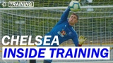 Arrizabalaga's Incredible Saves In First Training Session As A Blue Inside Training