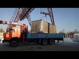 Погрузка контейнера на терминале - Пермь, ул. Ново-Гайвинская, 102