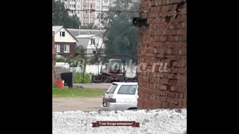 Горит либо трактор либо мусор на Гарабурды