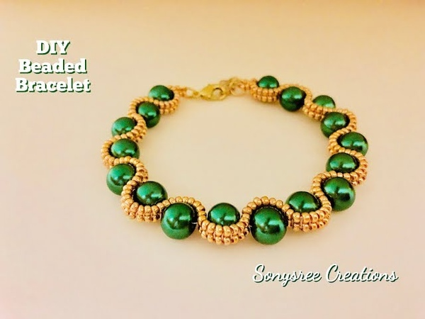 Herringbone Beaded Bracelet .How to make beaded bracelet DIY Bracelet 💞