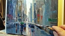 Paint With Me - Rainy City - Palette Knife | Brush Oil Painting in Real Time - Dusan