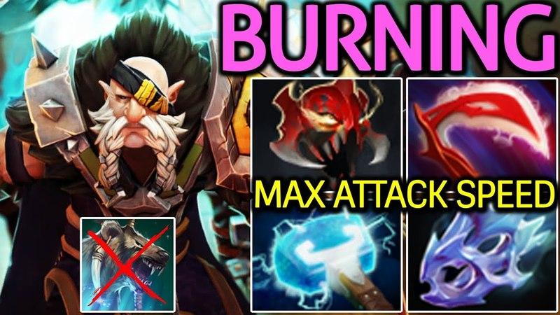 Burning [Lone Druid] Solo Mid - Max Attack Speed 7.15 Dota 2
