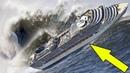 Смотрите, какой ужас творится на круизном лайнере во время шторма!
