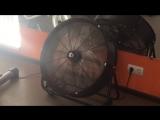 Поомышленные вентиляторы в тренажерном зале