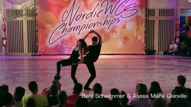 Benji Schwimmer Alyssa Glanville Pro Show - Nordic West Coast Swing Championships