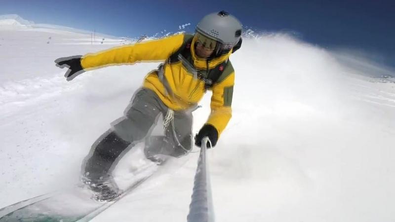 Dangerous Glacier ice at Mount Elbrus