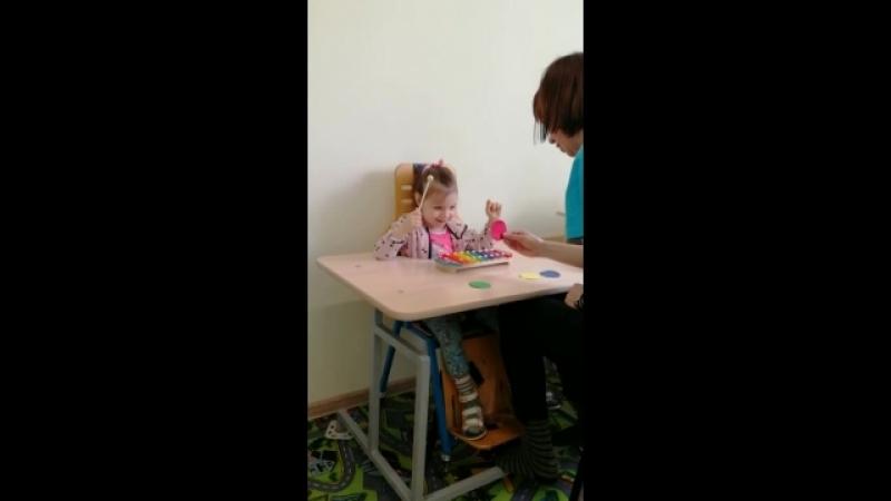 Дмитриева Ульяна на занятиях с психологом ФОЦ Адели г.Пенза