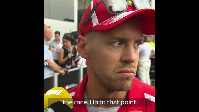 Germany 2018 post-race Sebastian Vettel