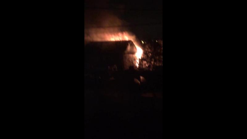 Пожар на проезде Авиаторов