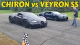 Bugatti Chiron vs. Veyron SS racing on the runway