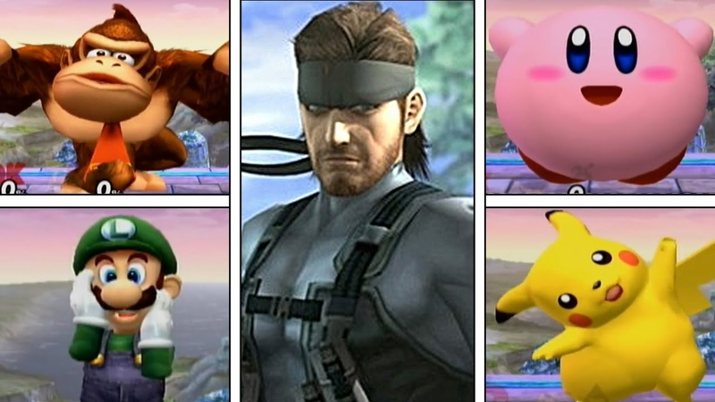 Super Smash Bros Brawl: Solid Snake's Codec For All Characters {Taunt Easter Egg} (High Quality)