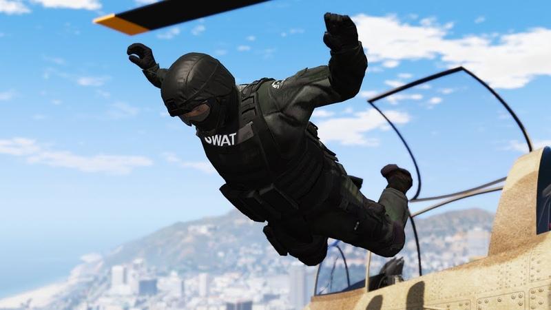 GTA 5! SWAT самоубийца!