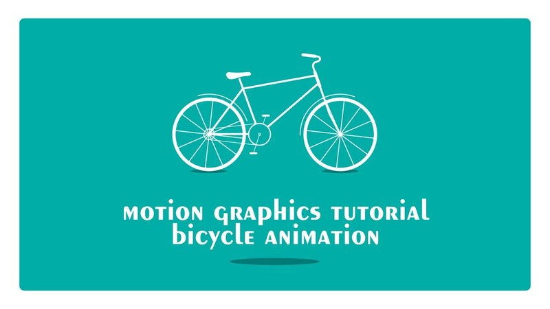 Motion graphics tutorial - Bicycle animation (After Effects only)