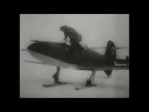 Уникальные кадры испытательного полета БИ 1 под командованием Григория Бахчиванджи Зима 1942