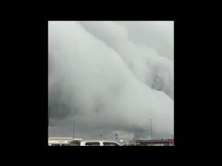 Шельфовые облака в штате Иллинойс