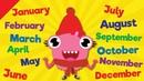 Months of the Year Song | Learn the 12 Months | Kindergarten, Preschool ESL | Fun Kids English