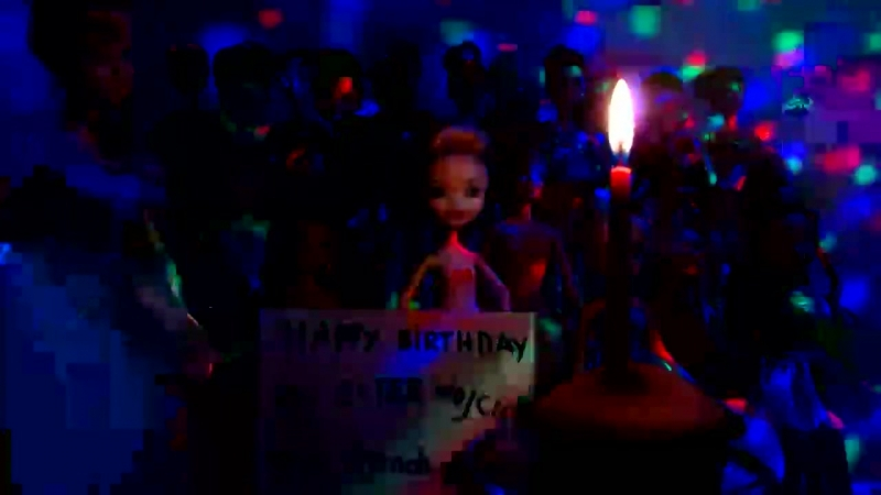 Куклы Барби и Принцессы Диснея Мультфильмы ТВ Торт свечка и Загаданное желание Эстер Золушки мамы директорши Ютуб Часть 8 19