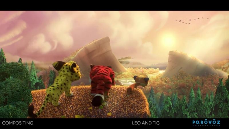 Работа компоузера. Как оживают наши мультгерои Лео и Тиг