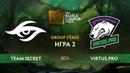 Team Secret vs Virtus.pro карта 2, The Kuala Lumpur Major Плей-офф