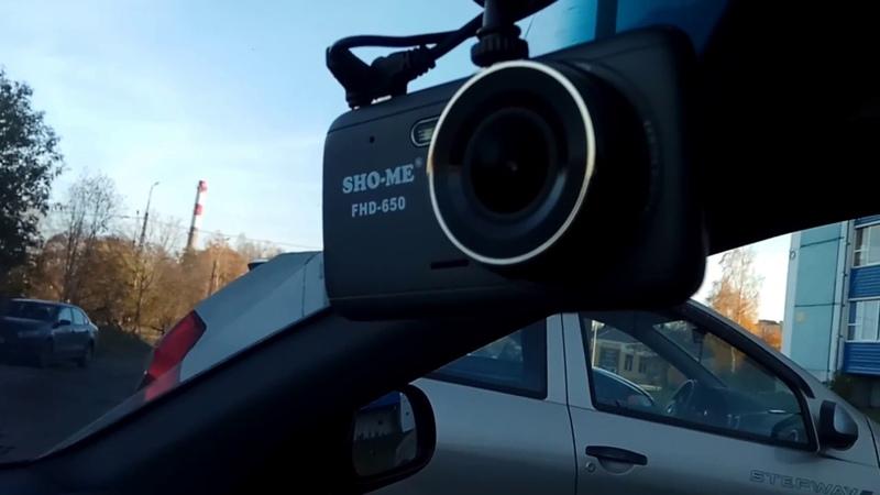 Автомобильный видеорегистратор Sho me FHD 650 Помехи на изображение камеры заднего вида