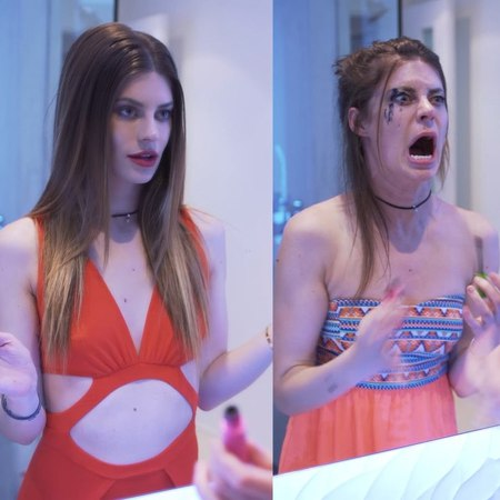"""Hannah Stocking on Instagram: """"Date Night - EXPECTATIONS vs REALITY 😍😱"""