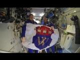 Ленинградцев поздравляют космонавты Олег Артемьев и Сергей Прокофьев